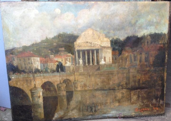 GIACOMO GROSSO (1860-1938) - PINTOR ITALIANO - ÓLEO SOBRE TELA. (Arte - Pintura - Pintura al Óleo Moderna sin fecha definida)