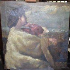 Arte: GIUSEPPE MENTESSI (1857-1931) - PINTOR ITALIANO - ÓLEO SOBRE TELA. Lote 51033742
