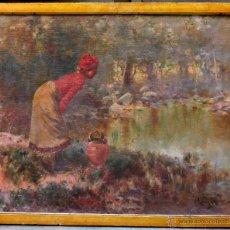 Arte: ANDRÉS LAGARRA (1862-1931) ÓLEO SOBRE LIENZO, MARCO: 81 X 66 CM.. Lote 51054843
