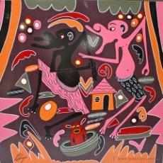 Arte: ARTE AFRICANO. OBRA ORIGINAL GEORGE LILANGA. MWOGESJE MAJI MTOTO. 1998. . Lote 51061258