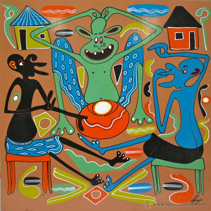 ARTE AFRICANO. OBRA ORIGINAL GEORGE LILANGA. NATAKA KILA MMOJA ASHUHUDIE. 1998. (Arte - Pintura - Pintura al Óleo Contemporánea )