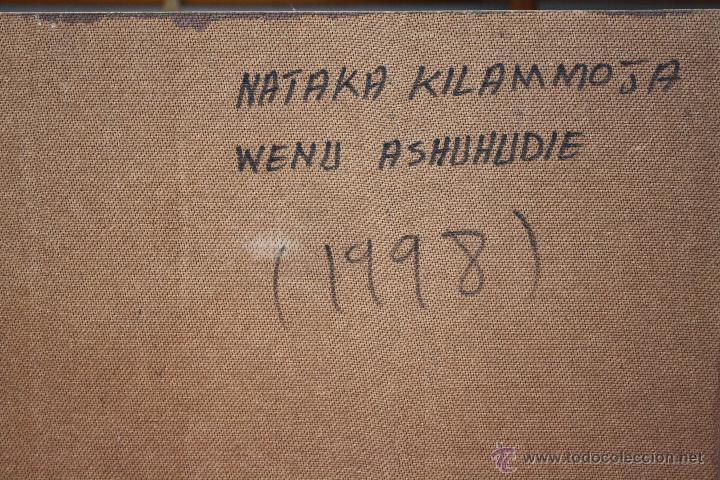 Arte: ARTE AFRICANO. OBRA ORIGINAL GEORGE LILANGA. NATAKA KILA MMOJA ASHUHUDIE. 1998. - Foto 2 - 51061312