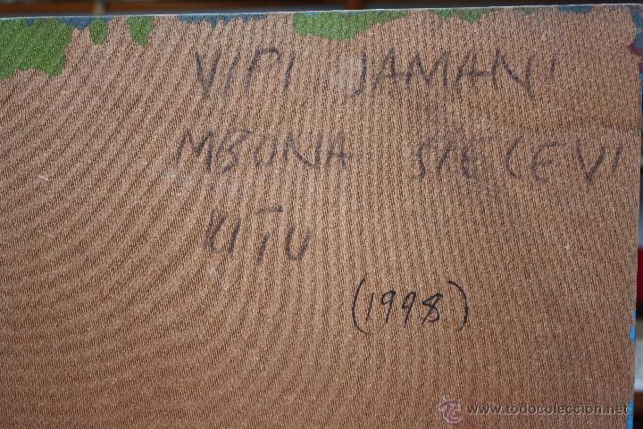 Arte: ARTE AFRICANO. OBRA ORIGINAL GEORGE LILANGA. VIPIJAMANI MBONA SIELEWI. 1998. - Foto 2 - 51061353