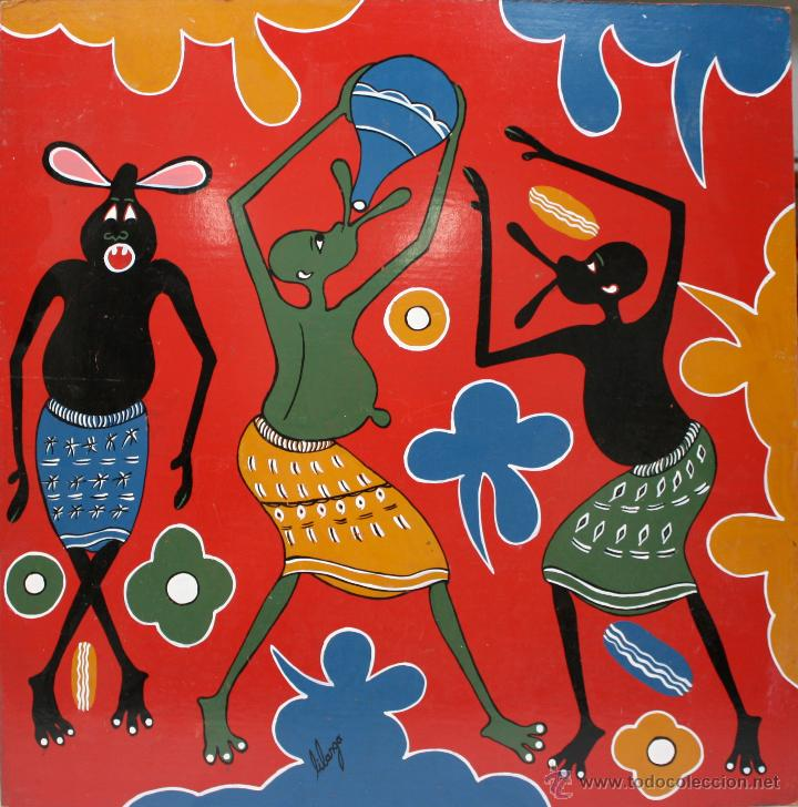ARTE AFRICANO  OBRA ORIGINAL GEORGE LILANGA  SIN TITULO  2004