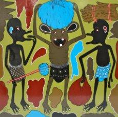 Arte: ARTE AFRICANO. OBRA ORIGINAL GEORGE LILANGA. WASAFIRI. 2002. Lote 51061501