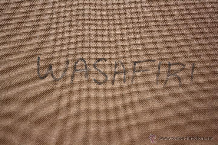 Arte: ARTE AFRICANO. OBRA ORIGINAL GEORGE LILANGA. WASAFIRI. 2002 - Foto 2 - 51061501