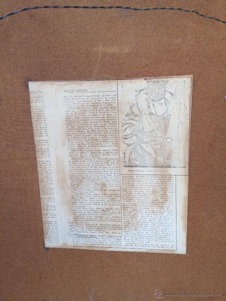 Arte: Rafael PEREZ BARRADAS (1890-1929) (Atribuido) - Pintor Uruguayo-Español - Óleo sobre hardboard - Foto 5 - 51065193