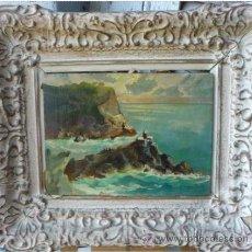 Arte: ANGELO BALBI (1872-1939) - PINTOR ITALIANO - ÓLEO SOBRE TABLA - VISTA COSTERA. Lote 51065915
