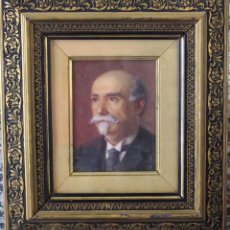 Arte: PINTURA AL PASTEL, SIGLO XIX. FIRMADA. RETRATO. Lote 51069713