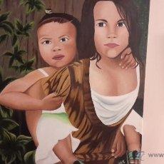 Arte: OLEO SOBRE TELA 54X65 FIRMA DE LA AUTORA.. Lote 51165111