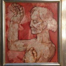 Arte: J.A. VALLVÉ , OLEO SOBRE TABLA. Lote 122592191
