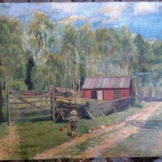 Arte: CHARLES PAUL GRUPPE (1860-1940) - PINTOR NORTEAMERICANO - ÓLEO SOBRE TELA. Lote 51181437