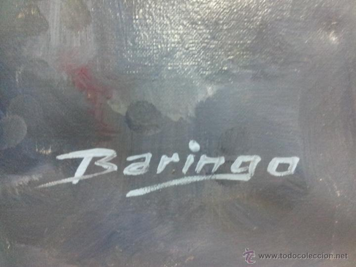 Arte: OLEO LIENZO DE ANTONI BARINGO ...TARRAGONA..TITULADO...EL SOMNI DE UNA NUVIA..AÑOS 90 - Foto 3 - 51322174