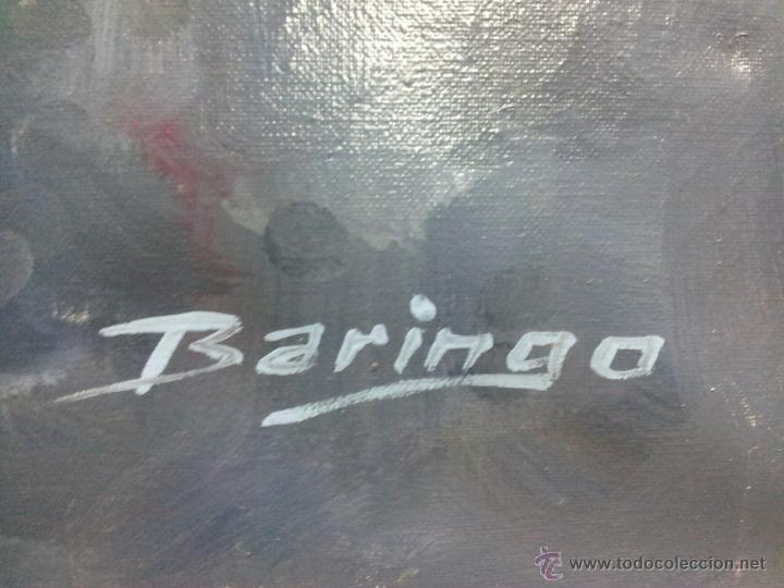 Arte: OLEO LIENZO DE ANTONI BARINGO ...TARRAGONA..TITULADO...EL SOMNI DE UNA NUVIA..AÑOS 90 - Foto 4 - 51322174