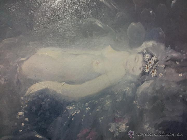 Arte: OLEO LIENZO DE ANTONI BARINGO ...TARRAGONA..TITULADO...EL SOMNI DE UNA NUVIA..AÑOS 90 - Foto 6 - 51322174