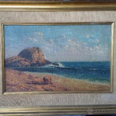 Arte: PEDRO ISERN ALIÉ (1875/76-1946) - PINTOR ESPAÑOL - ÓLEO SOBRE TELA - VISTA COSTERA. Lote 51323634