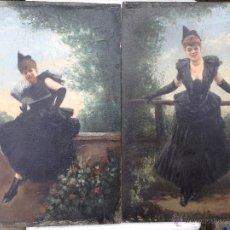 Arte: MANUEL PICOLO LOPEZ (1855-1912) PINTOR ESPAÑOL - PAR DE ÓLEOS SOBRE MADERA. Lote 51323686