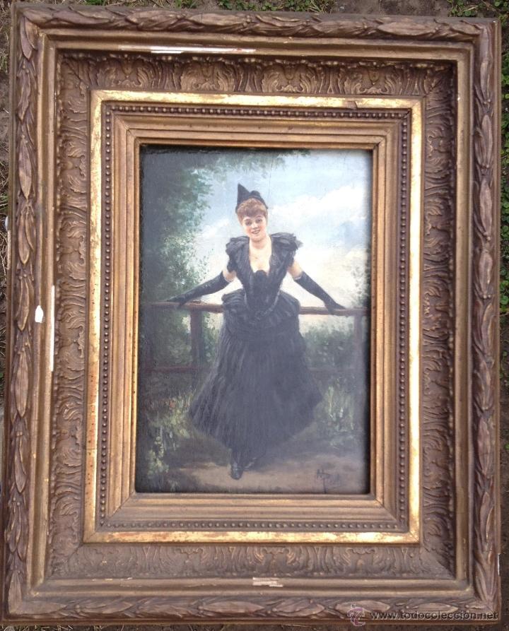 Arte: Manuel PICOLO LOPEZ (1855-1912) Pintor Español - Par de Óleos sobre madera - Foto 6 - 51323686