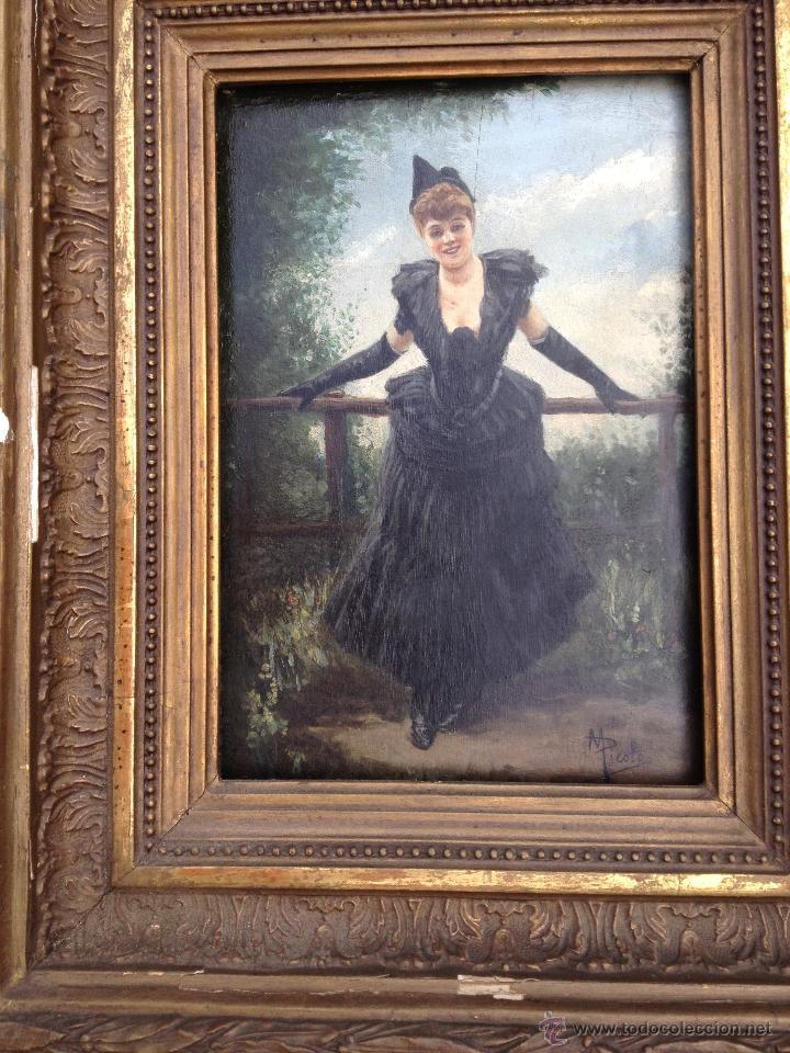 Arte: Manuel PICOLO LOPEZ (1855-1912) Pintor Español - Par de Óleos sobre madera - Foto 7 - 51323686