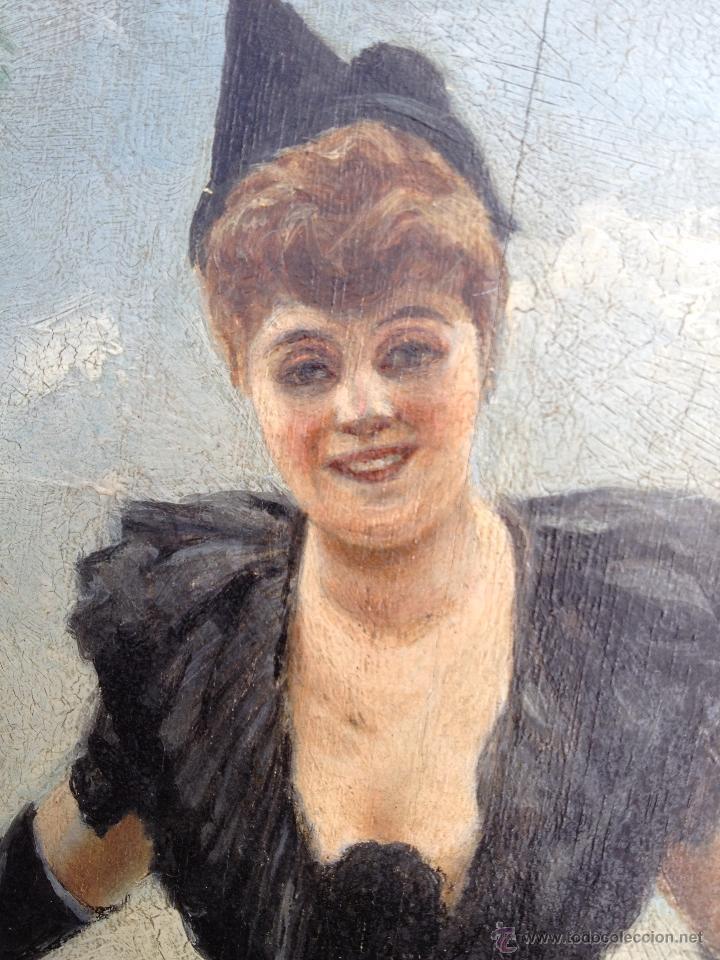 Arte: Manuel PICOLO LOPEZ (1855-1912) Pintor Español - Par de Óleos sobre madera - Foto 8 - 51323686
