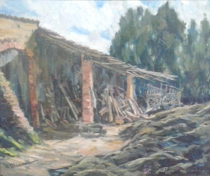 JAUME MERCADÉ VERGÉS. PINTOR NACIDO EN SABADELL EN 1922, CAN VIYALS 1975 (Arte - Pintura - Pintura al Óleo Contemporánea )