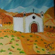 Arte: ERMITA DE LA MILAGROSA(DESAPARECIDA) DE ADRA, ÓLEO LIENZO EN BASTIDOR,40X40 CM DE CRESPO. Lote 51637134
