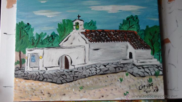 ERMITA DE SAN ISIDRO DEL BARRANCO ALMERÍN,ADRA,ÓLEO LIENZO EN BASTIDOR,40X50 CM D CRESPO (Arte - Pintura - Pintura al Óleo Contemporánea )