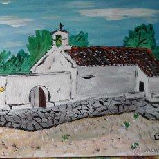Arte: ERMITA DE SAN ISIDRO DEL BARRANCO ALMERÍN,ADRA,ÓLEO LIENZO EN BASTIDOR,40X50 CM D CRESPO. Lote 51637140