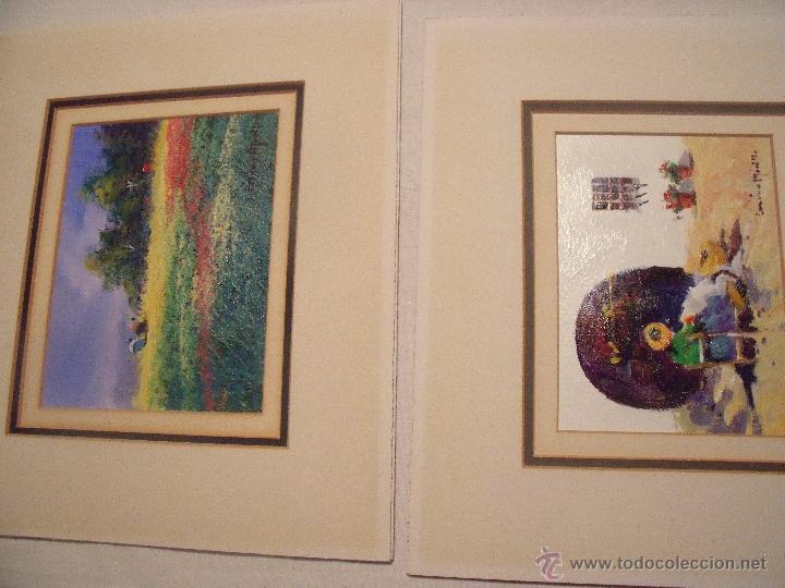 DOS OLEOS DE FRANCISCO LOZANO MORILLO CON PASPARTUT (Arte - Pintura - Pintura al Óleo Contemporánea )