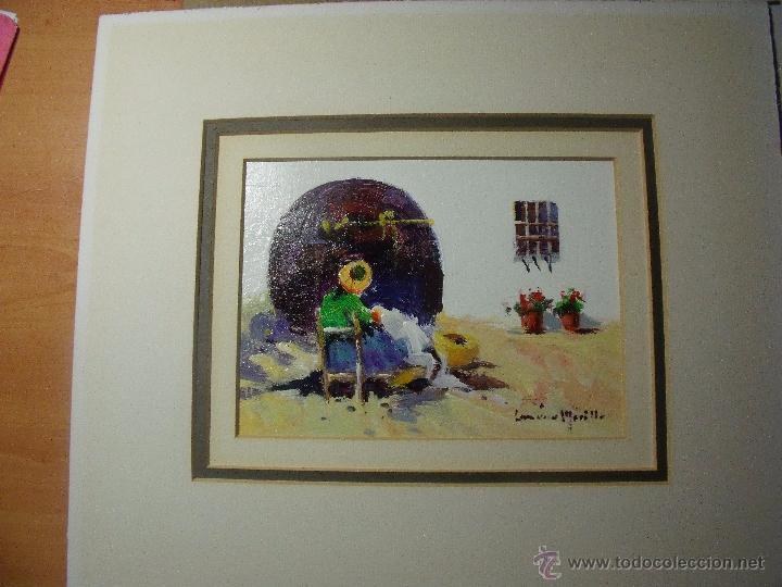 Arte: DOS OLEOS DE FRANCISCO LOZANO MORILLO CON PASPARTUT - Foto 3 - 51655764