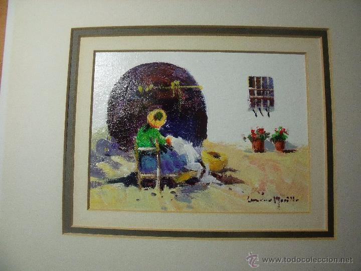 Arte: DOS OLEOS DE FRANCISCO LOZANO MORILLO CON PASPARTUT - Foto 4 - 51655764