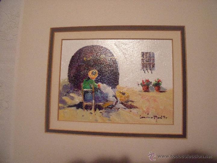 Arte: DOS OLEOS DE FRANCISCO LOZANO MORILLO CON PASPARTUT - Foto 6 - 51655764