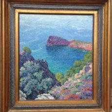 Arte: RICARDO CANALS Y LLAMBI (1876-1931) PINTOR ESPAÑOL - ÓLEO SOBRE TELA - LA FORADADA (MALLORCA). Lote 51720273