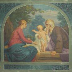 Arte: N5-108. ESCENA BIBLICA. ÓLEO SOBRE TAPIZ EN TELA. FIRMADO S. ANIUS. SIGLO XX.. Lote 51732815