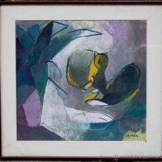 Arte: JUAN CAPELLA (1927-2005) GATS, ACRÍLICO SOBRE PAPEL O CARTÓN, 48X45 CM. MARCO: 62X62CM SALA GASPAR. Lote 51953471
