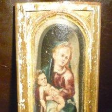 Arte: TABLA DE LA VIRGEN CON EL NIÑO DE ESCUELA FLAMENCA DEL S.XVI. Lote 52136821