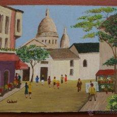 Arte: ANTIGUA PINTURA TIPO NAIF AL OLEO SOBRE CHAPON DE MADERA – FIRMADA MEDIDAS 17,5 X 13 CM. Lote 52142501