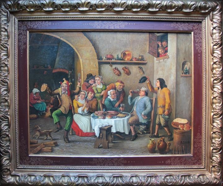 ESCUELA HOLANDESA (Arte - Pintura - Pintura al Óleo Antigua sin fecha definida)