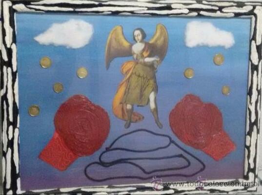 PINTURA ORIGINAL KITSCH. COLECCIONISMO. (Arte - Pintura Directa del Autor)
