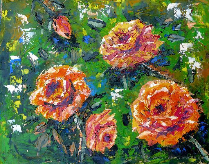 ROSAS (Arte - Pintura Directa del Autor)