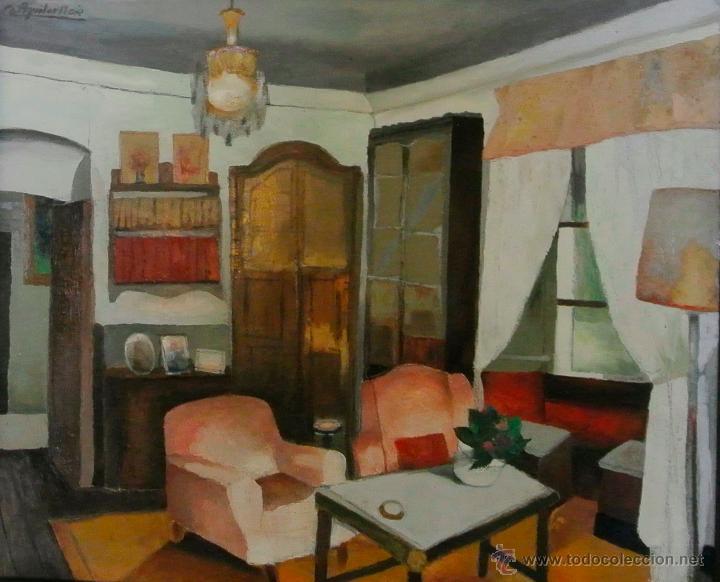 INTERIOR DE AGUILAR MORÉ (Arte - Pintura - Pintura al Óleo Contemporánea )
