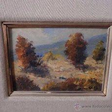 Arte: ÓLEO SOBRE TABLEX , FIRMADO JOAN VILÀ , PAISAJE. Lote 52411917