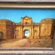 Arte: GUSTAVO GALLARDO RUIZ (1891-1971) - PINTOR ESPAÑOL - ÓLEO SOBRE CARTÓN ENTELADO - PUERTA DE CÓRDOBA. Lote 69945681