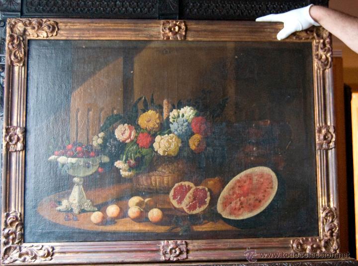 CUADRO PINTURA AL OLEO BODEGON SIGLO XIX (Arte - Pintura - Pintura al Óleo Moderna siglo XIX)