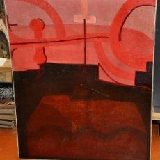 Arte: JAVIER SAURAS VIÑUALES (HUESCA, 1944) OLEO SOBRE TELA DEL AÑO 1968. ABSTRACCIÓN. Lote 52551944