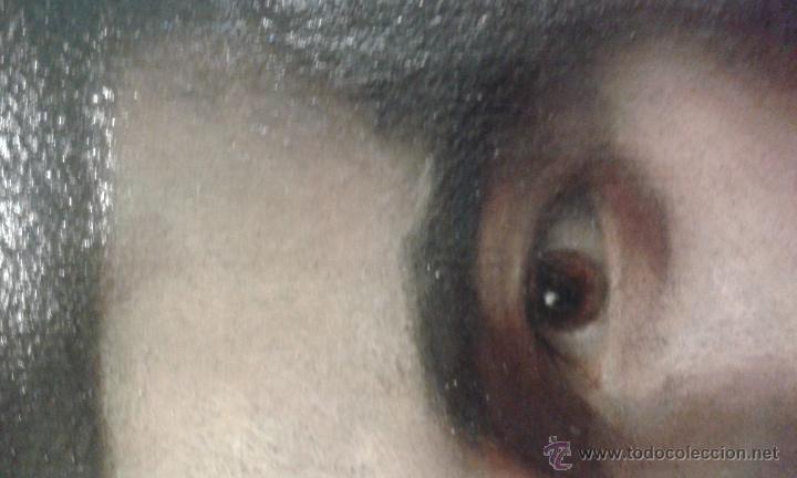 Arte: Oleo sobre lienzo. Caballero. No esta firmado, Muy bien pintado. Siglo XVIII ? marco de 40 x 50 cm - Foto 3 - 52556199