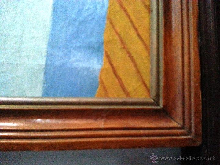 Arte: BODEGÓN GRANDE EN OLEO SOBRE LIENZO A LA MANERA NAIF, ENMARCADO. NECESITA PARCHE - Foto 3 - 54490192