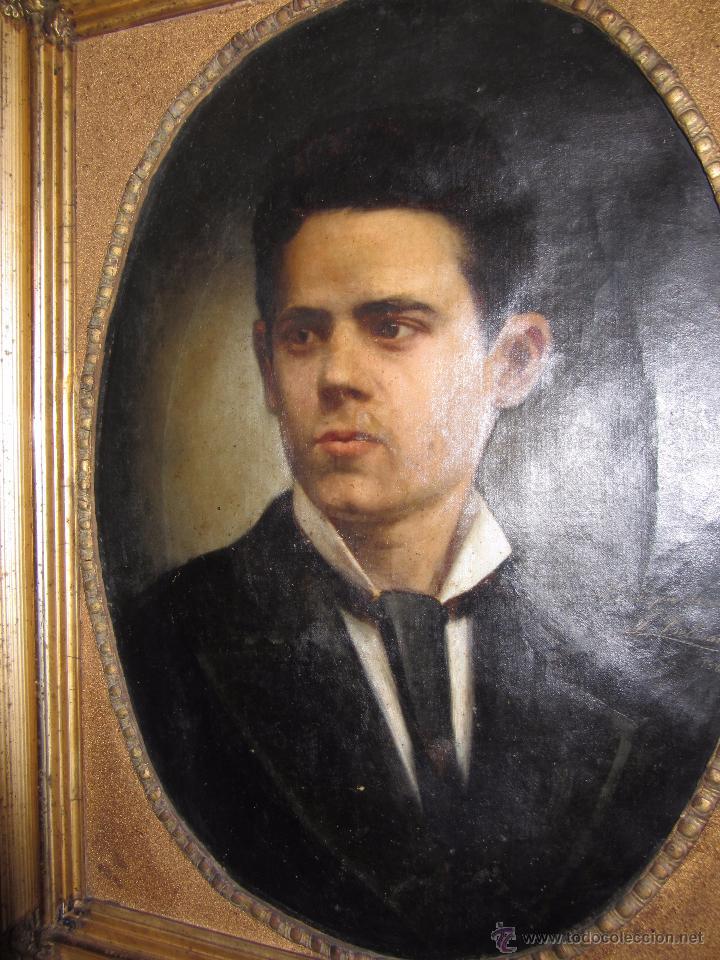 Arte: Oleo - Retrato de Caballero - Firmado y fechado en 1878 Julio Cebrián Mezquita (Valencia 1854-1926) - Foto 5 - 52663172