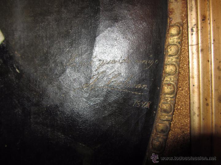 Arte: Oleo - Retrato de Caballero - Firmado y fechado en 1878 Julio Cebrián Mezquita (Valencia 1854-1926) - Foto 6 - 52663172