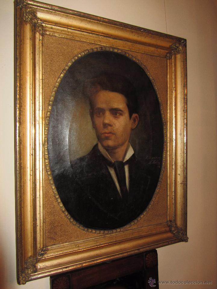 Arte: Oleo - Retrato de Caballero - Firmado y fechado en 1878 Julio Cebrián Mezquita (Valencia 1854-1926) - Foto 7 - 52663172